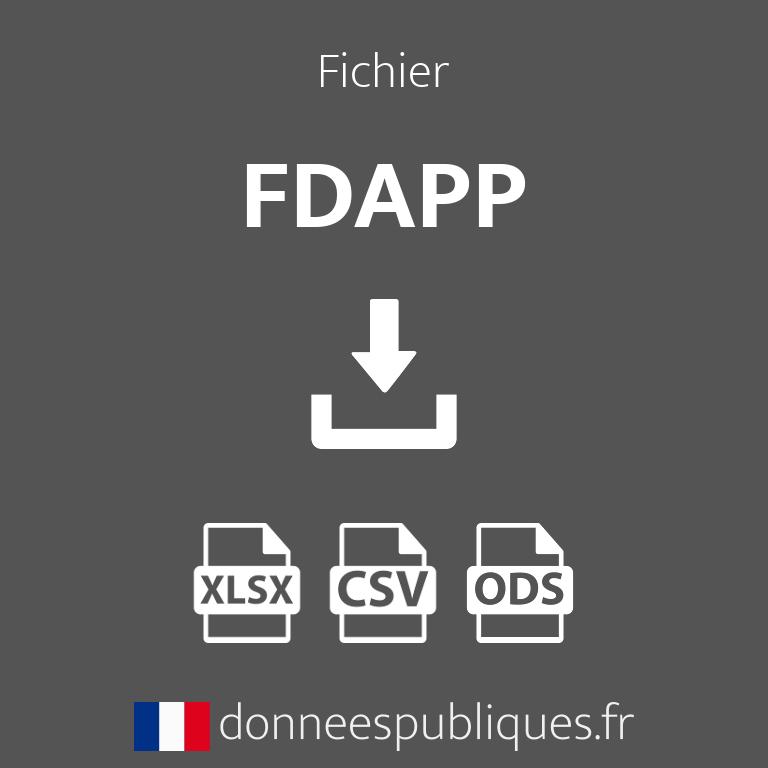 Fichier des FDAPP