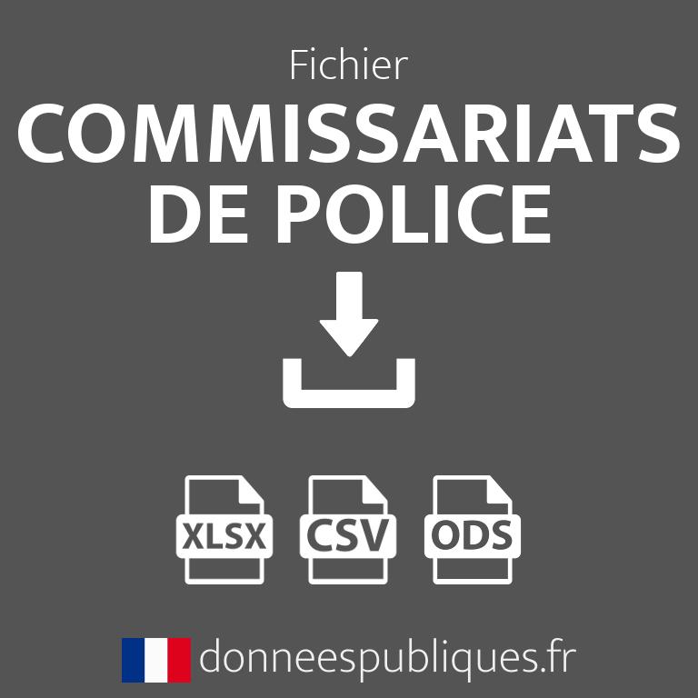 Fichier des commissariats de police