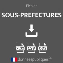 Fichier des Sous-préfectures