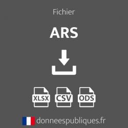 Fichier des agences de l'ARS