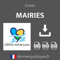 Fichier emails des mairies de la région Centre-Val de Loire