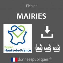 Fichier emails des mairies de la région Hauts-de-France