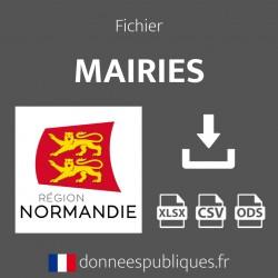 Fichier emails des mairies de la région Normandie