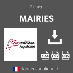 Fichier emails des mairies de la région Nouvelle-Aquitaine