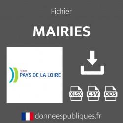 Fichier emails des mairies de la région Pays de la Loire