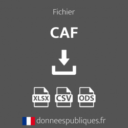 Fichier des Caisses d'allocations familiales