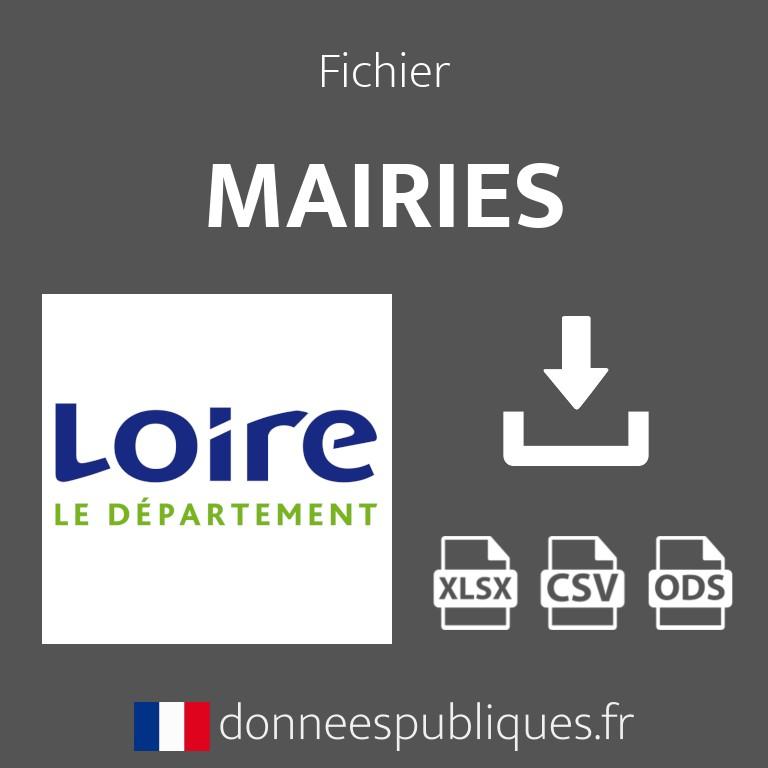 Fichier emails des mairies du département de la Loire (42)