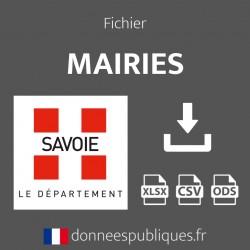 Fichier emails des mairies du département de la Savoie (73)