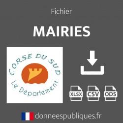 Fichier emails des mairies du département de la Corse-du-Sud (2A)