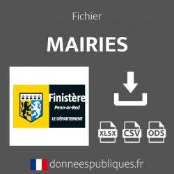 Fichier emails des mairies du département du Finistère (29)