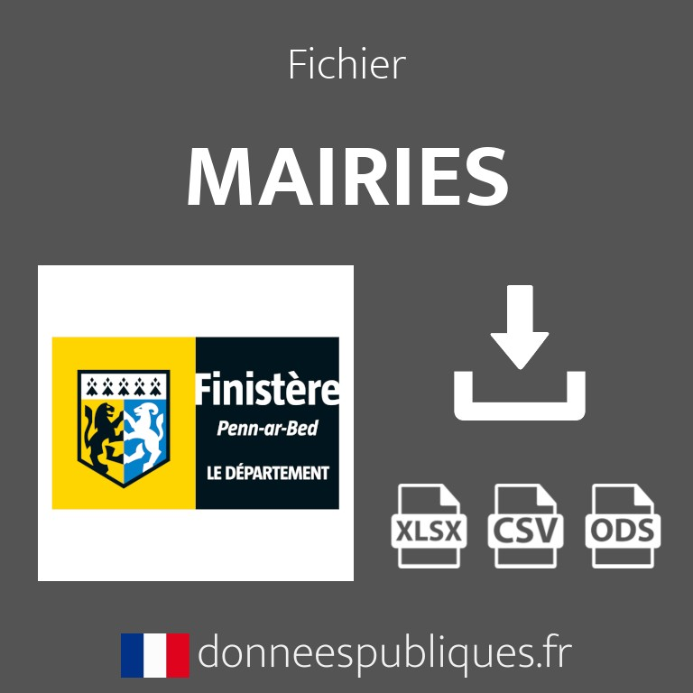 Emails des mairies du département du Finistère (29)