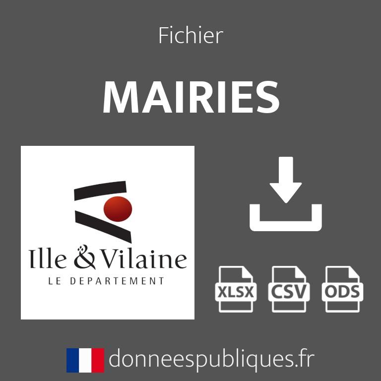 Emails des mairies du département d'Ille-et-Vilaine (35)