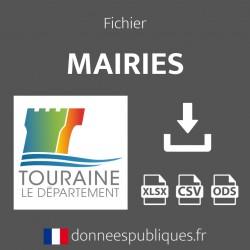 Fichier emails des mairies du département d'Indre-et-Loire (37)