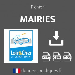 Fichier emails des mairies du département du Loir-et-Cher (41)