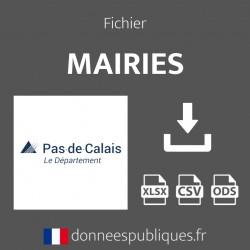 Fichier emails des mairies du département du Pas-de-Calais (62)
