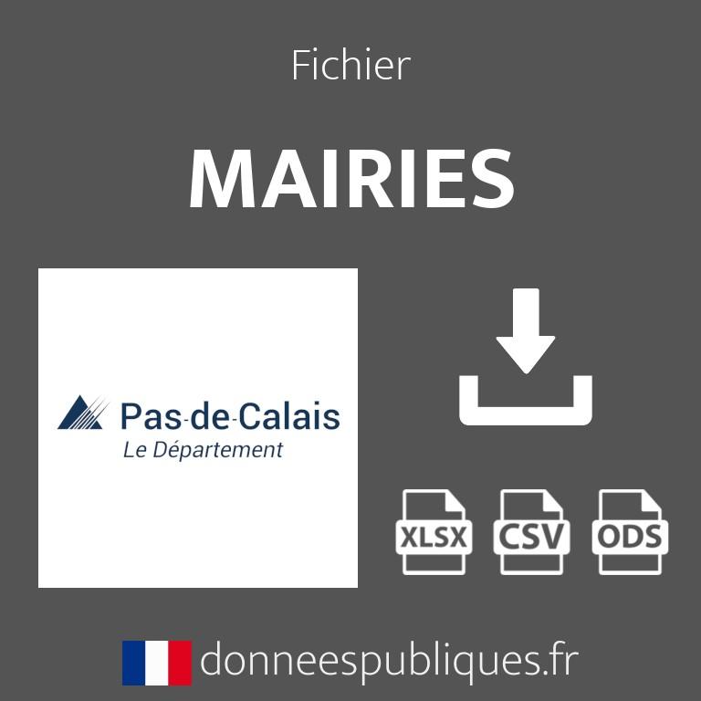 Emails des mairies du département du Pas-de-Calais (62)