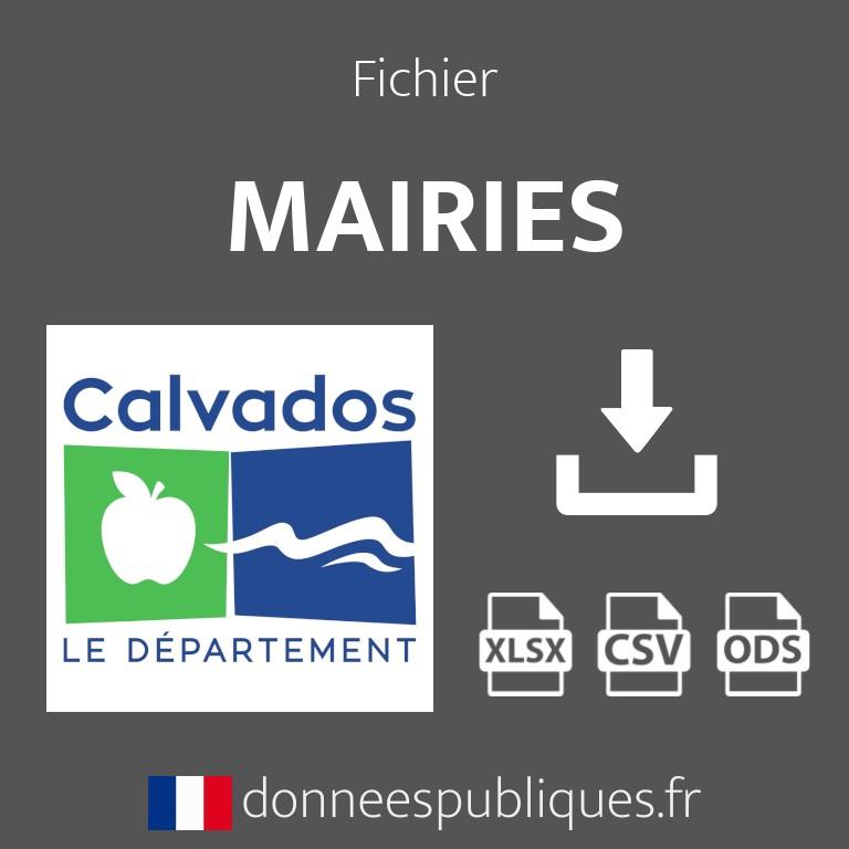 Emails des mairies du département du Calvados (14)