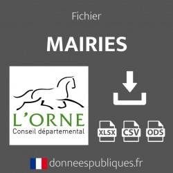 Fichier emails des mairies du département de l'Orne (61)