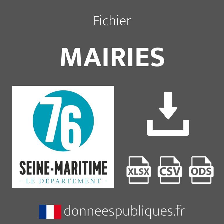 Emails des mairies de la Seine-Maritime (76)