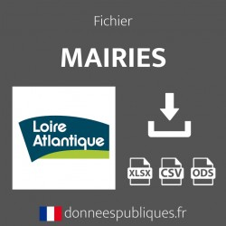 Fichier emails des mairies du département de Loire-Atlantique (44)