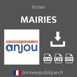 Fichier emails des mairies du département de Maine-et-Loire (49)