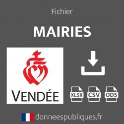 Fichier emails des mairies du département de la Vendée (85)