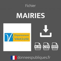 Fichier emails des mairies du département du Vaucluse (84)
