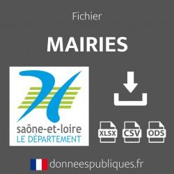 Fichier emails des mairies du département de la Saône-et-Loire (71)