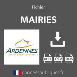 Fichier emails des mairies du département des Ardennes (08)