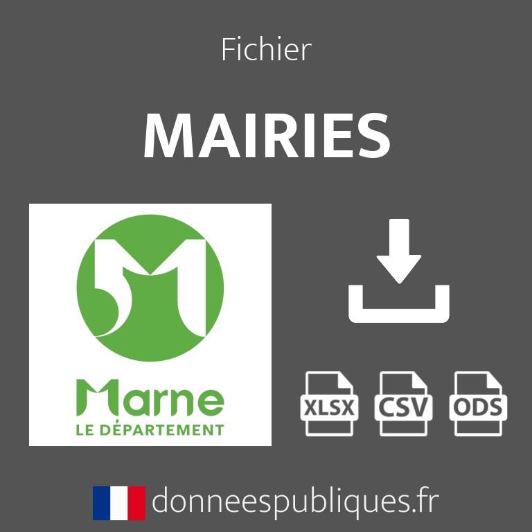 Fichier emails des mairies du département de la Marne (51)