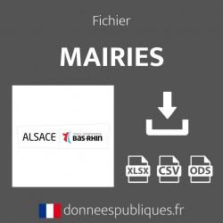 Fichier emails des mairies du département du Bas-Rhin (67)