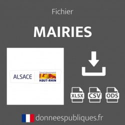 Fichier emails des mairies du département du Haut-Rhin (68)