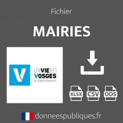Fichier emails des mairies du département des Vosges (88)