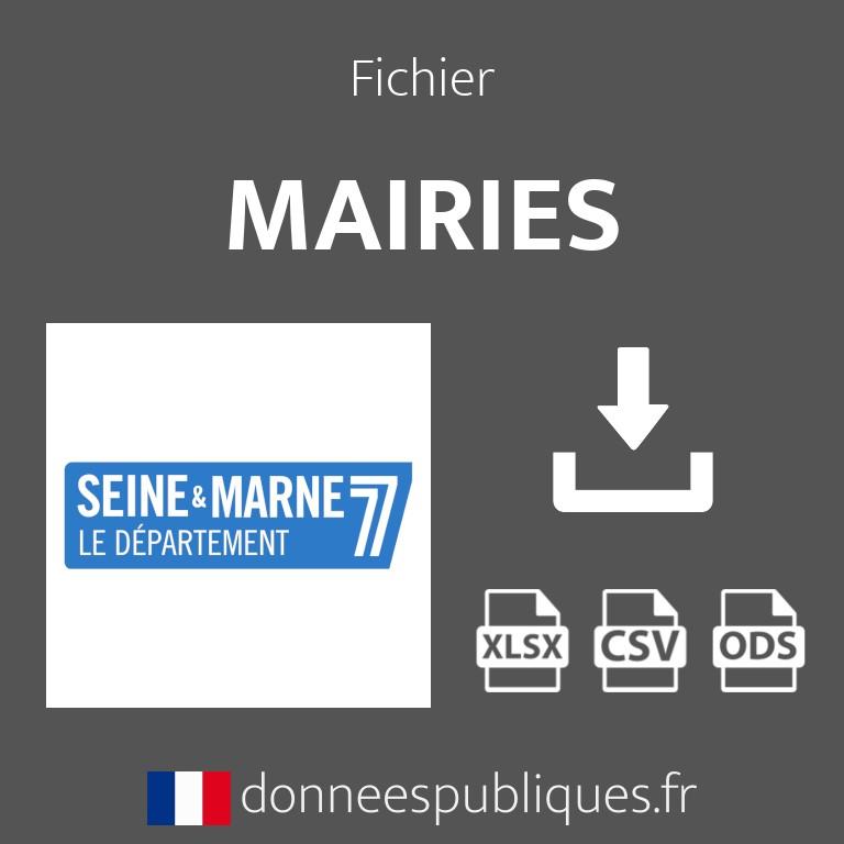 Emails des mairies du département de Seine-et-Marne (77)