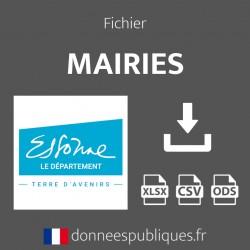 Fichier emails des mairies du département de l'Essonne (91)