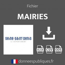 Fichier emails des mairies du département de Seine-Saint-Denis (93)