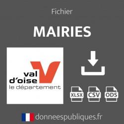 Fichier emails des mairies du département du Val-d'Oise (95)
