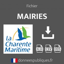 Fichier emails des mairies du département de la Charente-Maritime (17)