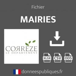 Fichier emails des mairies du département de la Corrèze (19)