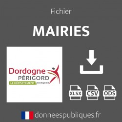 Fichier emails des mairies du département de la Dordogne (24)