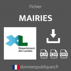 Fichier emails des mairies du département des Landes (40)