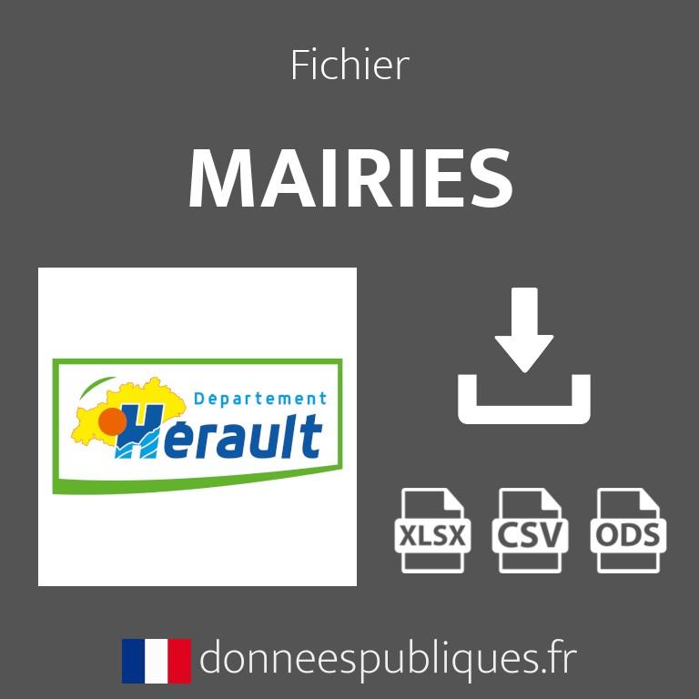Emails des mairies du département de l'Hérault (34)