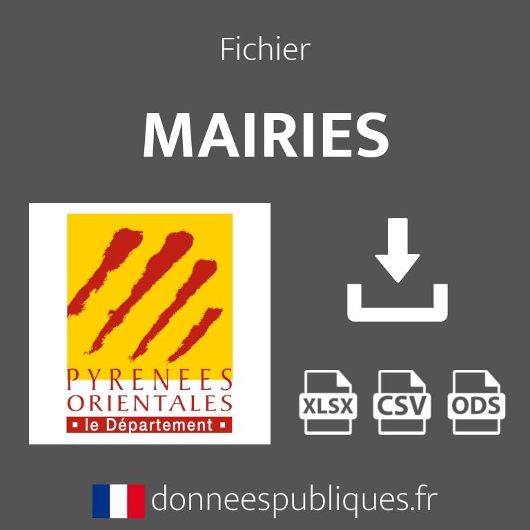 Emails des mairies du département des Pyrénées-Orientales (66)