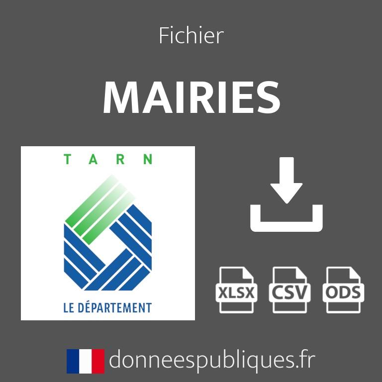 Fichier emails des mairies du département du Tarn (81)