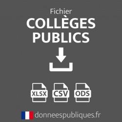 Fichier emails des collèges publics