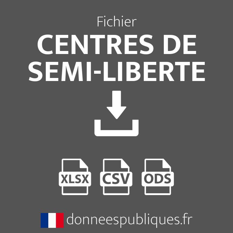 Fichier des Centres de semi-liberté