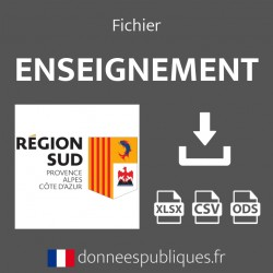 Fichier emails de l'enseignement public et privé de la région Provence-Alpes-Côte d'Azur