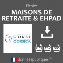 Fichier emails des maisons de retraite et EHPAD de la région Corse