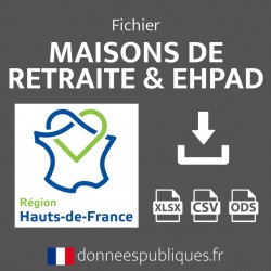 Fichier emails des maisons de retraite et EHPAD de la région Hauts-de-France
