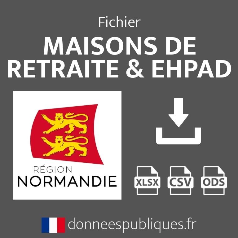 Fichier emails des maisons de retraite et EHPAD de la région Normandie